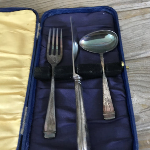 Sheffield England Childrens Silverware Cased Set, EPNS A1