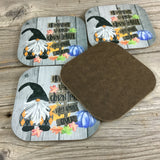 Gnome Halloween Coasters Set of 4
