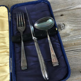 Sheffield England Childrens Silverware Cased Set, EPNS A1 Travel Set