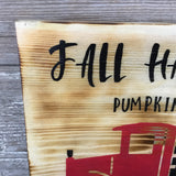 Fall Harvest Pumpkins Vintage Truck Sign