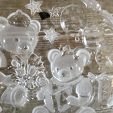 "Mikasa Party Bears 15"" Embossed Frosted Round Hostess Platter with Original Box"