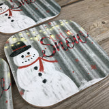 Let it Snow Coasters Set of 4