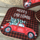 Christmas Bug Coasters Set of 4