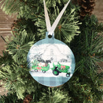 Christmas on the Farm Ornament Green Tractor