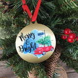 Merry & Bright Vintage Bug Christmas Ornament