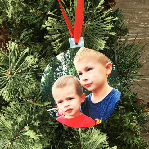 Personalized Christmas Photo Ornament