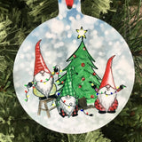 Gnome Christmas Tree Ornament