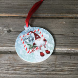 Merry & Bright Gnome Christmas Ornament