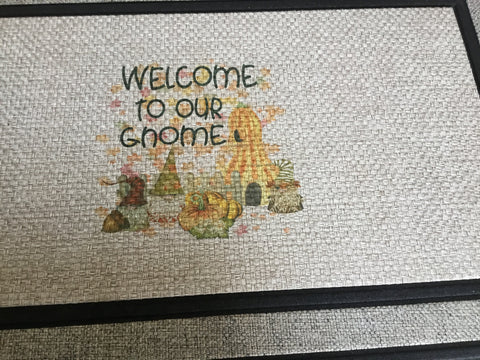 Welcome to our Gnome Door Mat