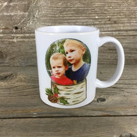 Personalized Picture Snow Globe Christmas Mug 11 oz