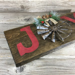 Joy Windmill Christmas Sign