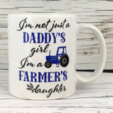 Daddy's Girl Farmer's Daughter 11 oz. Mug Blue Tractor