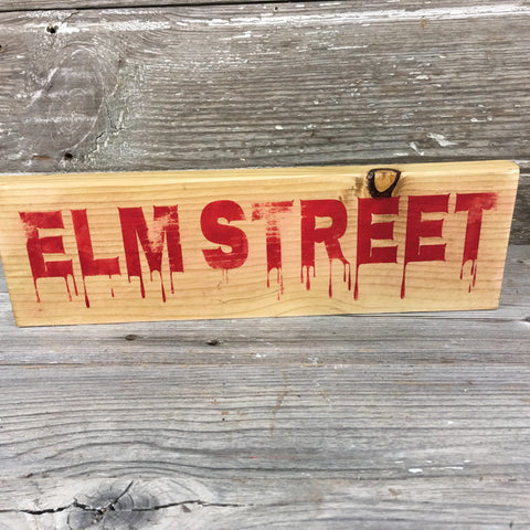 Elm Street Shelf Sitter Halloween Sign