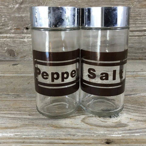 Libbey Brown Salt and Pepper Shakers