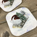Gnome Winter Coasters Set of 4