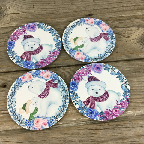 Polar Bear Coasters