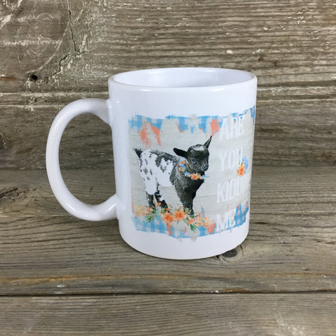 Are you kidding me? Goat Mug 11 oz