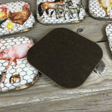 Rustic Farm  Coasters Set of 6