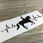 Horse Dressage Heartbeat Decal