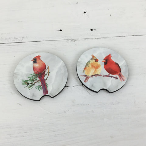 Cardinal Car Coasters Set of 2