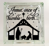 Jesus, once of humble birth Nativity Decal