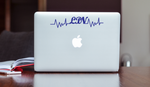 LPN EKG Heartbeat Car Decal