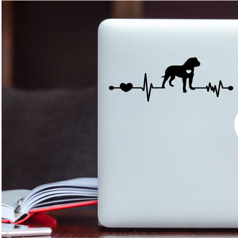 Mastiff Heartbeat Decal