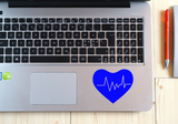 Heart LifeLine Decal Ekg