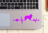Sheltie Ekg Vinyl Decal