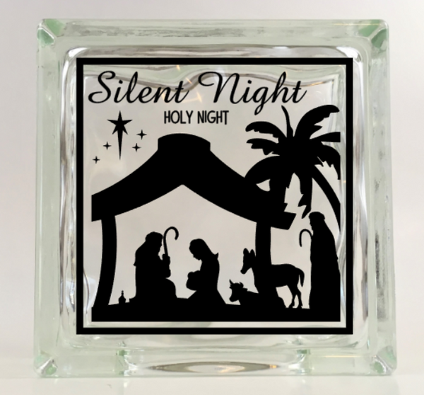 Silent Night, Holy Night Navtivity Vinyl Decal