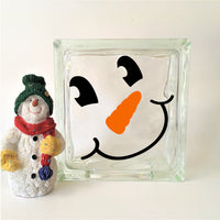 Snowman Face Winter Decal