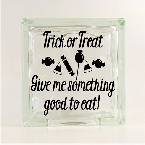 Trick or Treat Halloween Glass Block Decal