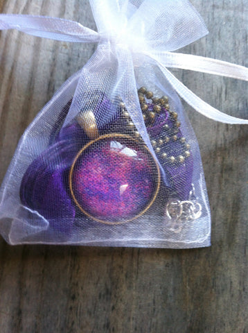 Purple Pink Pendant Necklace