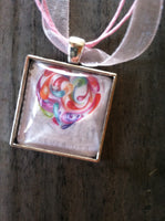 Quilled Paper Heart Necklace