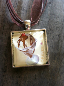 Hot Fudge Sundae Necklace