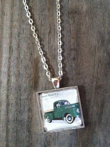 1948 Pickup truck Necklace