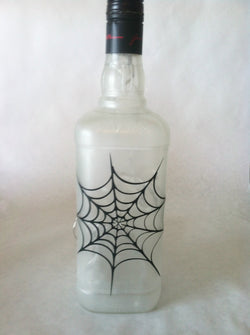 Spider Web Liquor Bottle Light
