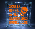 Skulls, Bones, & Old Headstones Buried Here Halloween Decal
