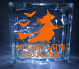 Not Every Witch Lives in Salem Halloween Glass Block Decal