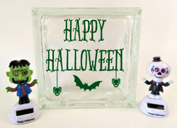 Happy Halloween Glass Block Decal