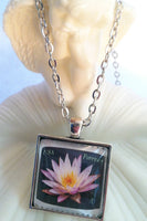Light Purple Lotus Flower Necklace