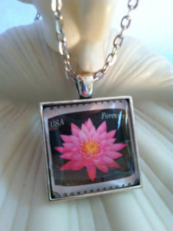 Pink Lily Pad Necklace