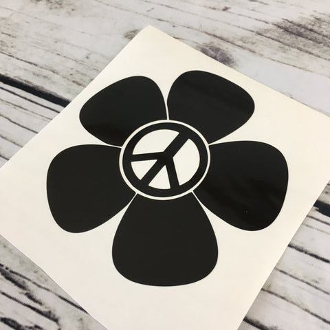 Peace Sign Flower Decal