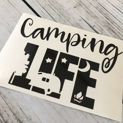Camping Life Car Decal
