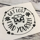 Get Lost Find Yourself Decal