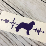 Saint Bernard EKG Heartbeat Car Decal