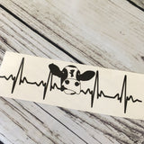 Cow EKG Decal