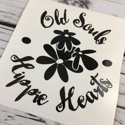 Old Souls Hippie Hearts Decal