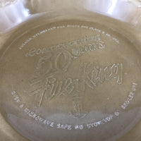 Fire-King 50th Anniversary Glass Pie Plate