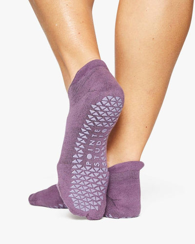 Josie Grip Sock with strap - purple